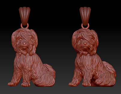 The dog (bas-relief and full 3d)