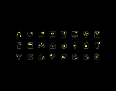 Yellow Neon Iconpack