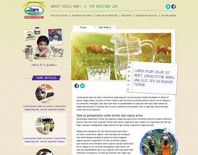 Dodla Diary website design