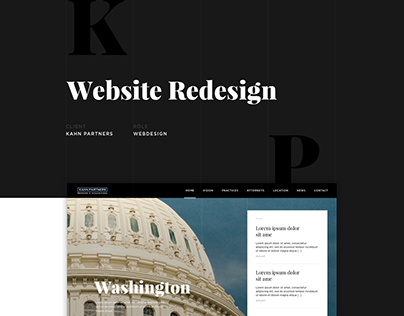 Kahn Partners - Website Redesign