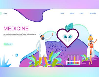 Medicine Landing Page shot