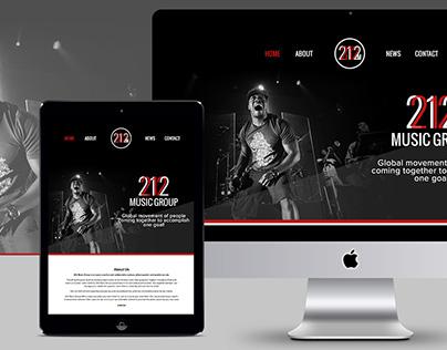 212 Music Group Website & Branding