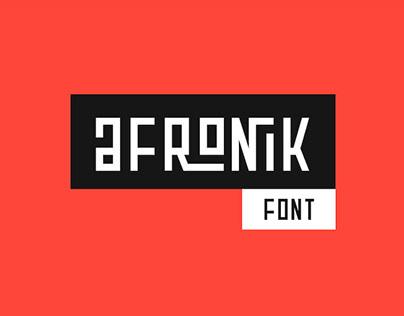AFRONIK - FREE DISPLAY FONT