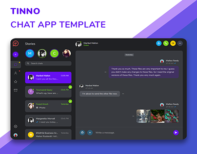 Tinno Chat App Template