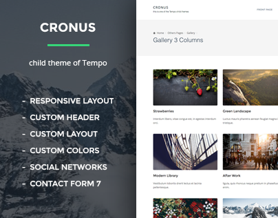 Cronus free WordPress Theme + Zeon WordPress Plugin