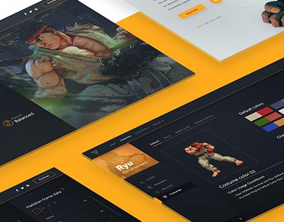 Street Fighter V website redesign concept
