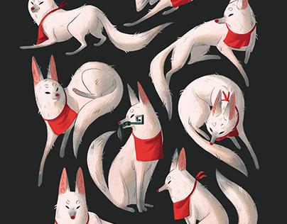 Fushimi Inari-Taisha Foxes