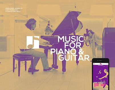 Modern webdesign for musician website and shop