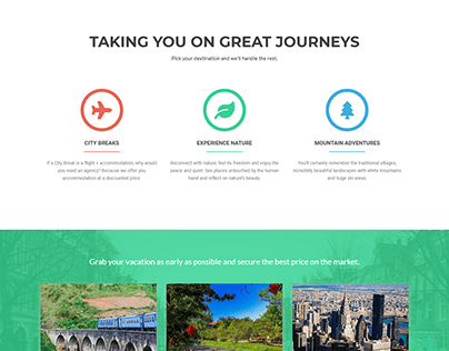 Agency website, travel WordPress website design