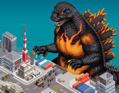 Godzilla Defense Force /Game Concept Art, 2018