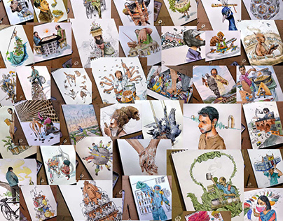 My 100+ Illustration Paintings ( 7 Years )