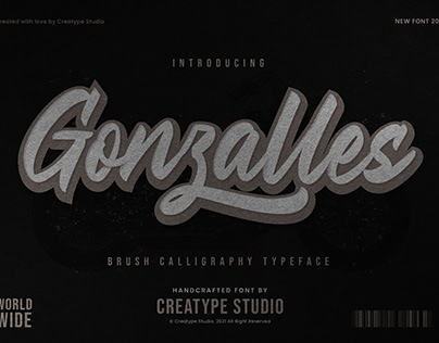 GONZALLES BRUSH CALLIGRAPHY - FREE FONT
