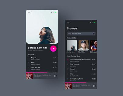 Music app | Daily UI 009