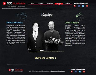 Website Produtora REC Multimídia