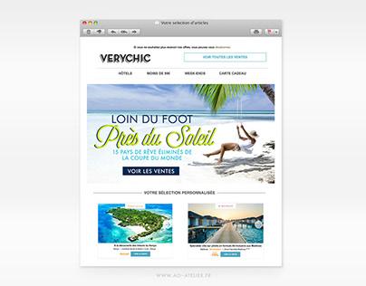 Design Web - Newsletter VERYCHIC