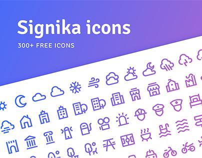 FREE - Signika icon set