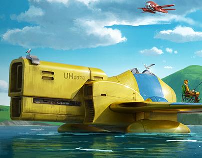 """Flight of the pelicans: """"Taking a break"""""""