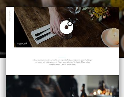 myLocali - restaurant booking website