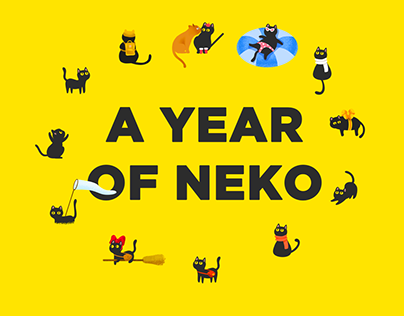 Calendar illustration: A year of neko