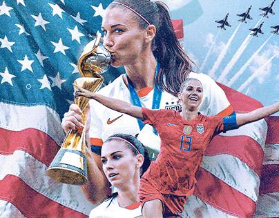 Alex Morgan - US Soccer Poster