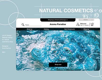 Web-design for natural cosmetics shop
