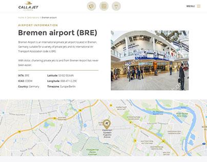 Call A Jet (website redesign)