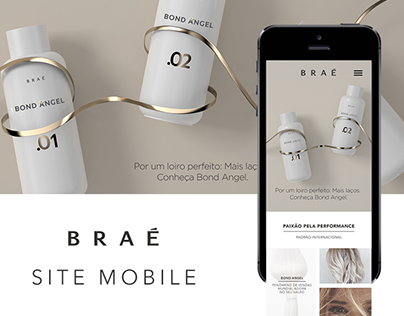 Braé Hair Care Mobile Site