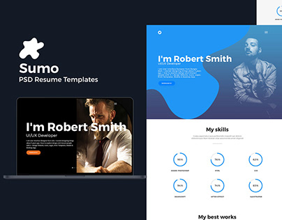 Sumo - Resume PSD Template