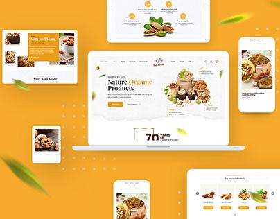 Organic Nuts Creative Website | latest 2021 | Sooraj