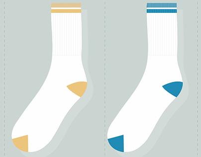Textile Socks Designs - CAD