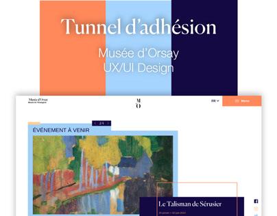 Refonte tunnel d'adhésion Musée d'Orsay