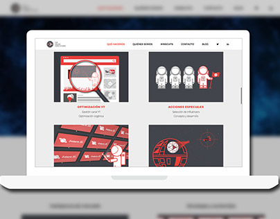 The online video studio - Illustration for web