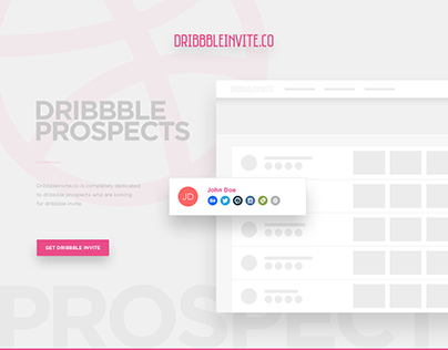 Dribbble Prospects Page Design