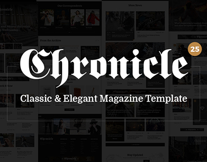 Chronicle - Premium News and Magazine PSD Template
