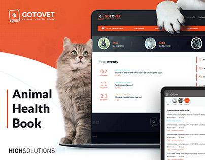 Animal Health Book UX/UI Design for GoToVet