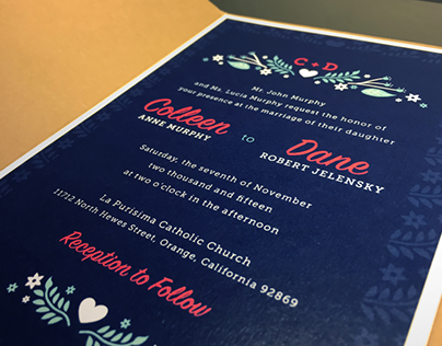 Colleen and Dane's Wedding Stationery