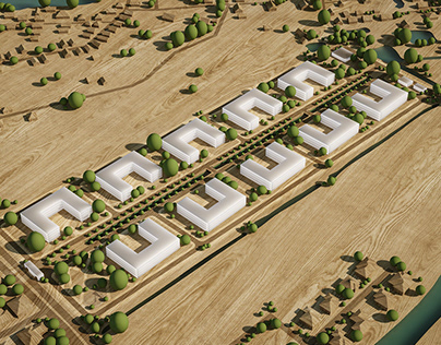 Suburban low-storey apartments. Schematic Design.