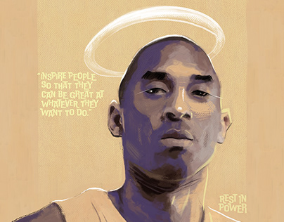 Kobe Bryant Memorial Painting