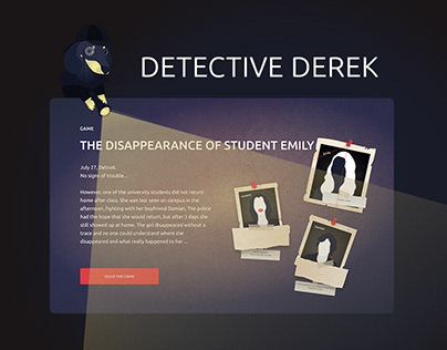 Detective game / landing page