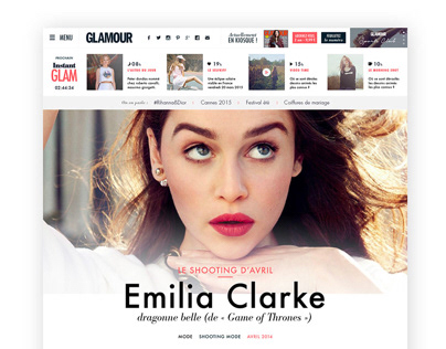 Glamour - Art Direction & UI Design