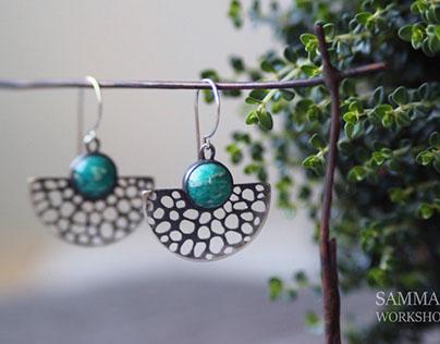 Sea foam earrings