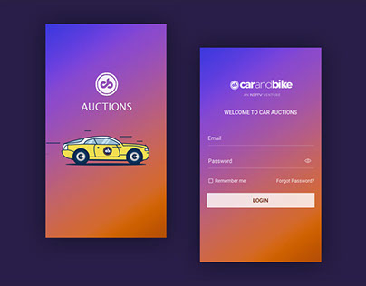 Car auction mobile app