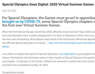 2020 Virtual Summer Games