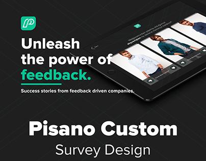 Pisano Custom Survey Kiosk Design