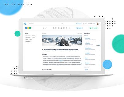Qeios - UX & UI Design