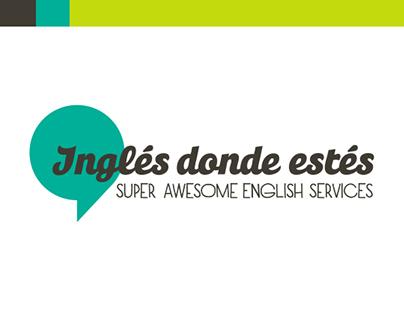 Ingles Donde Estés - Logo and Business Card