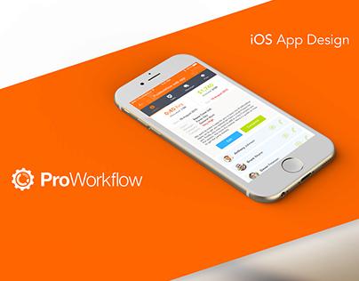 ProWorkFlow App Design