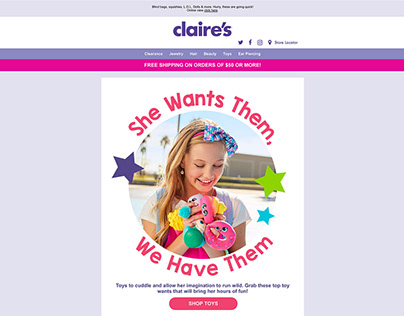 Claire's Marketing Emails-Spring 2018