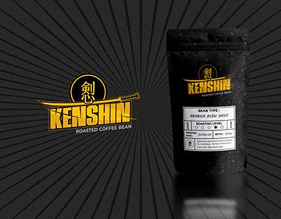 Kenshin Coffee Logo Design