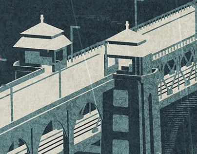 武汉长江大桥 - 信息图形设计